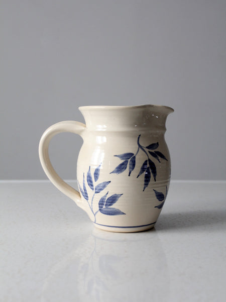 signed studio pottery pitcher
