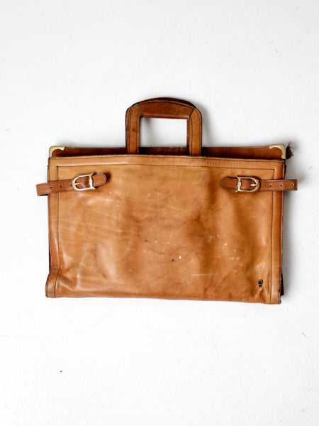 vintage leather hippie satchel