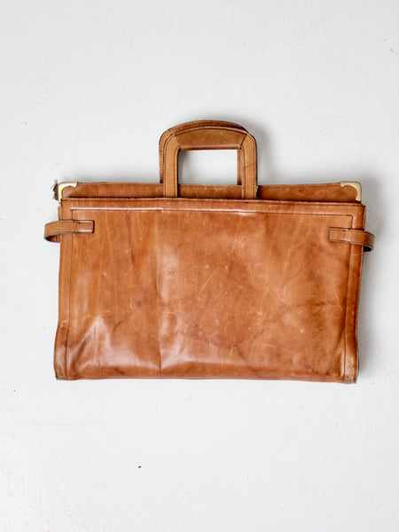 vintage C&C leather attache case