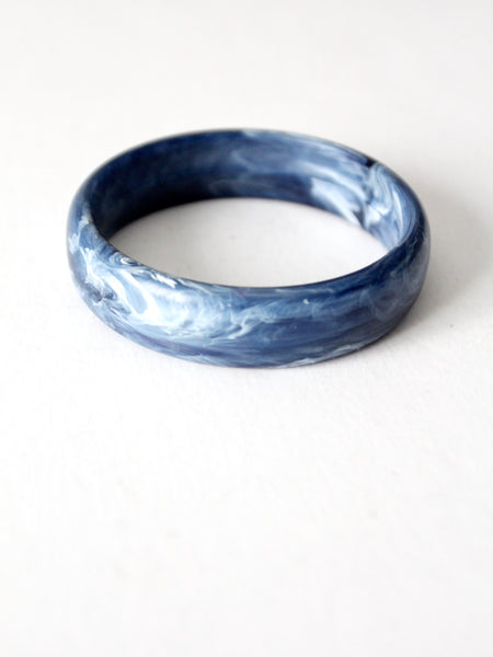 vintage blue marbled bangle