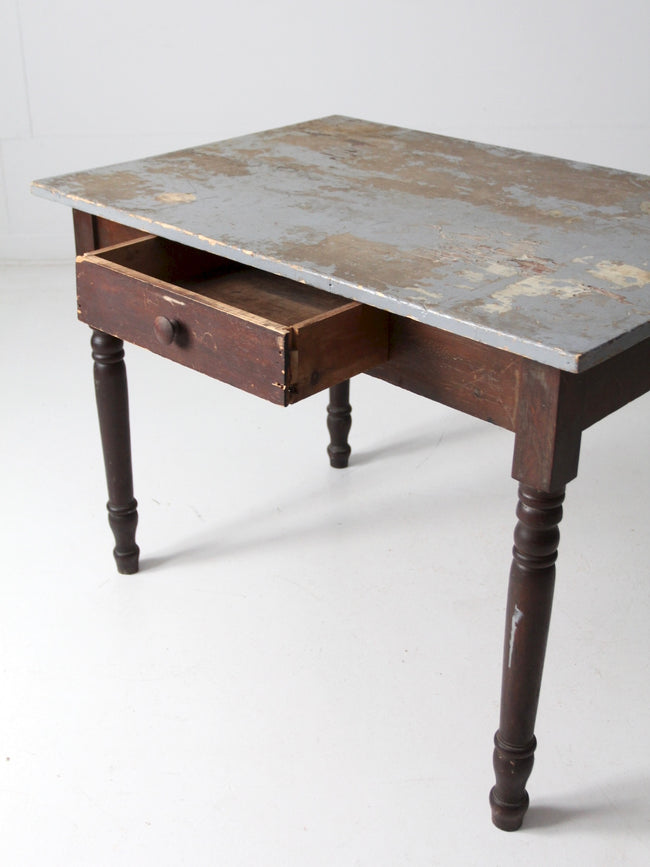 antique kitchen table with drawer