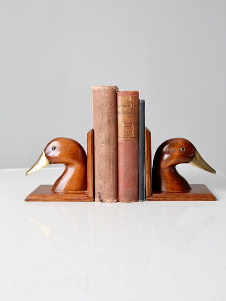 vintage duck bookends