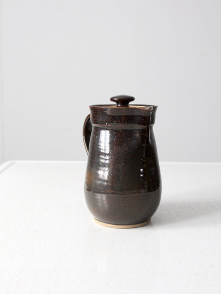 vintage 70s studio pottery pitcher