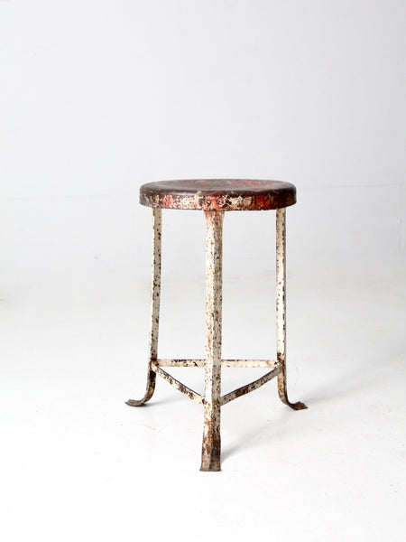 antique folding accent table