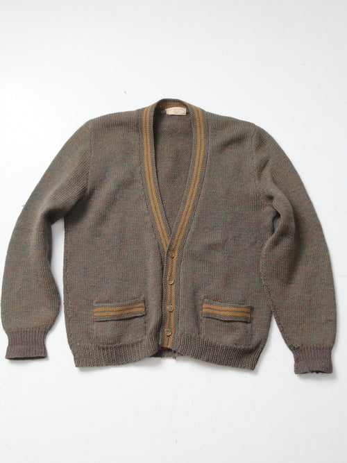 vintage 50s hand knit cardigan