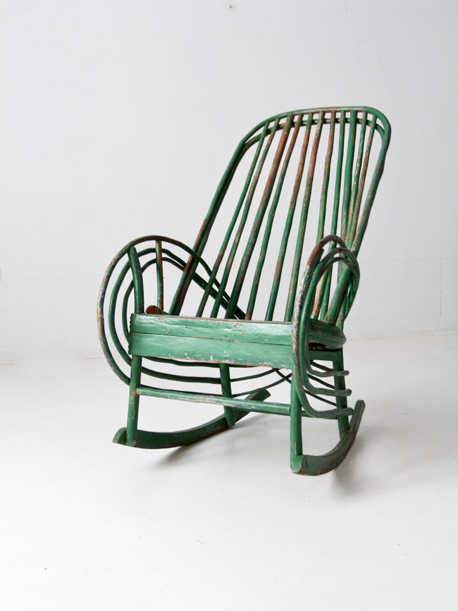 antique twig rocking chair