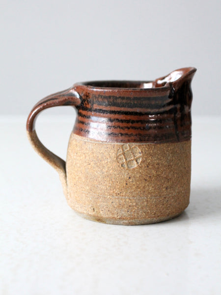 vintage small studio pottery pitcher