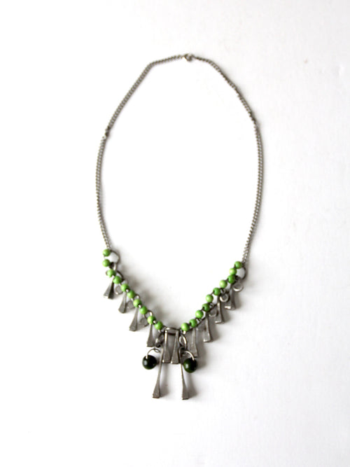 vintage brutalist square head nail necklace