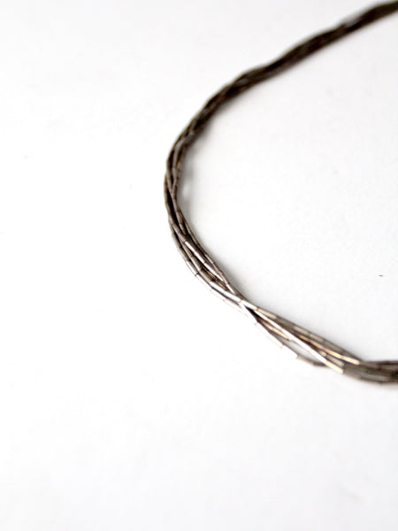 vintage liquid silver necklace