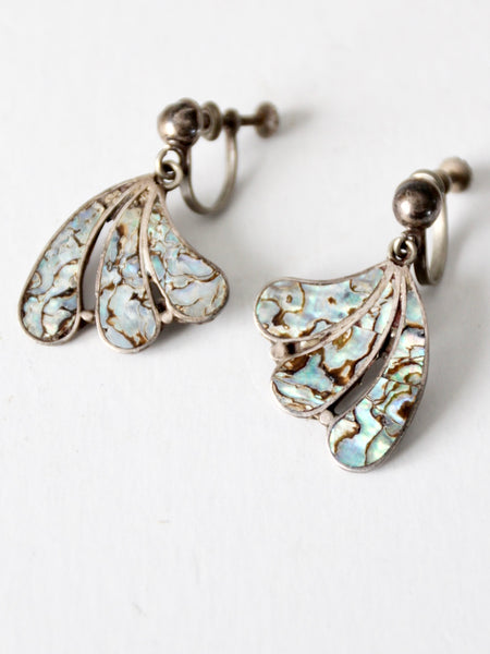 vintage abalone shell earrings