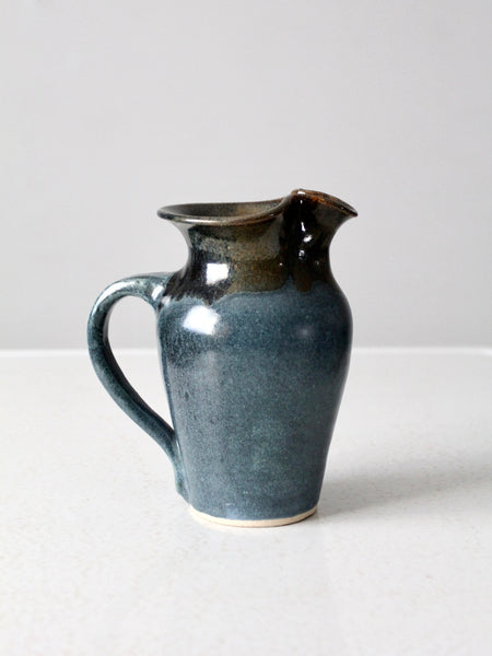 signed studio pottery pitcher ca 1979