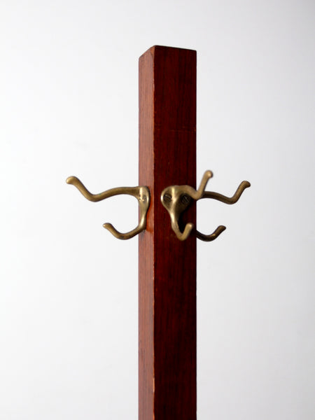 antique wooden coat rack