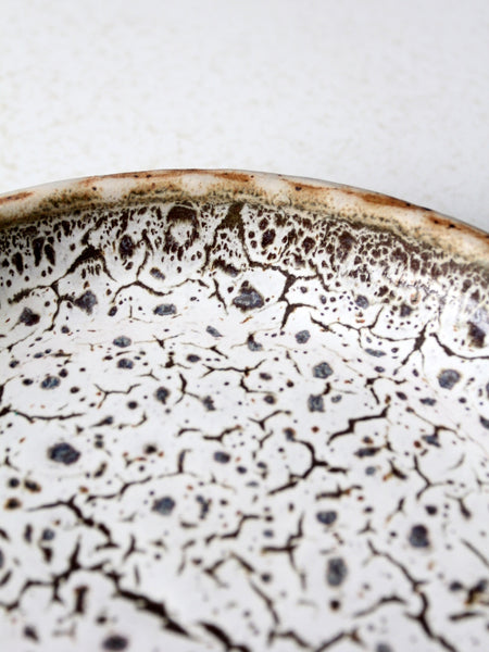 1970s signed studio pottery plate