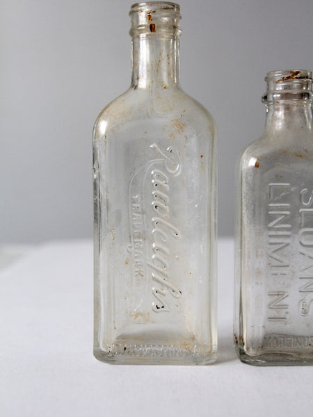 antique glass apothecary bottles set of 3