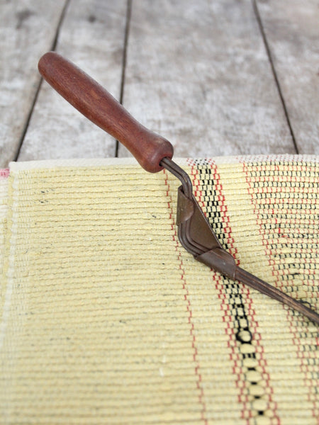 antique primitive rug beater