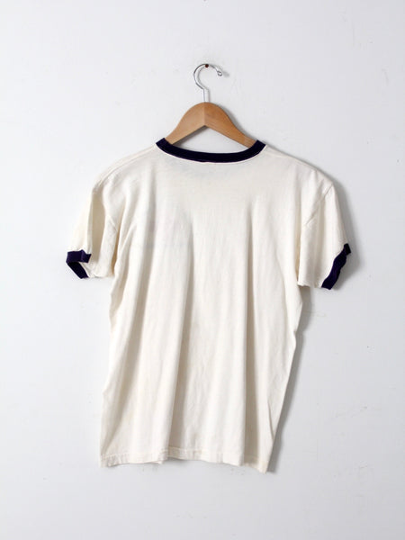 vintage Champion graphic ringer tee