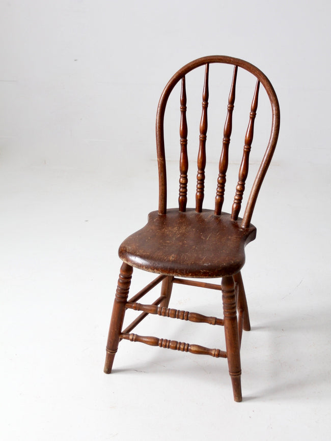 antique bow back Windsor chair