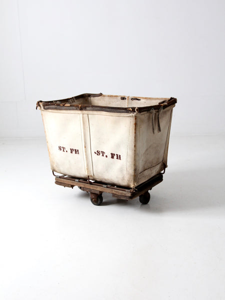 vintage striped wardrobe suitcase circa 1930