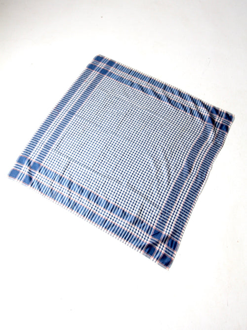 vintage plaid tablecloth