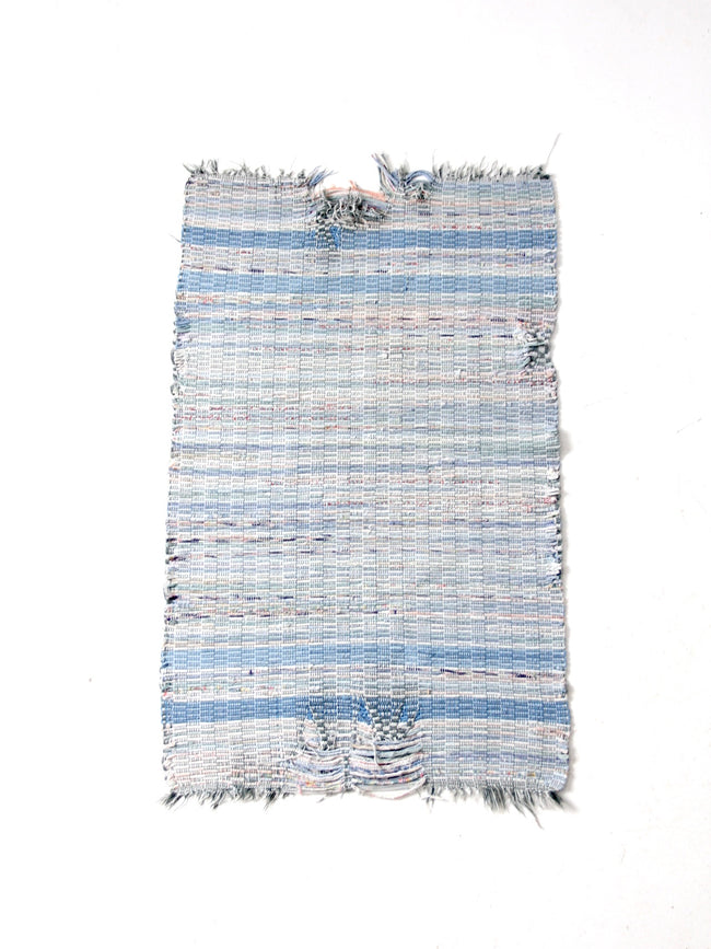 vintage blue farmhouse rag rug