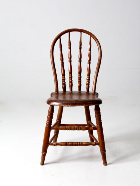 vintage spindle back wood chair