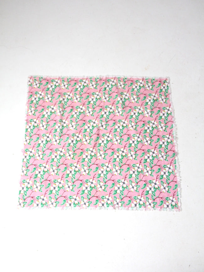 vintage pink floral tablecloth