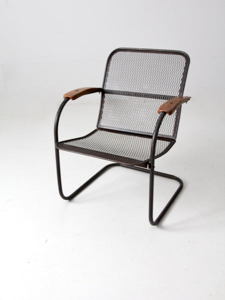 mid-century metal lawn chairs