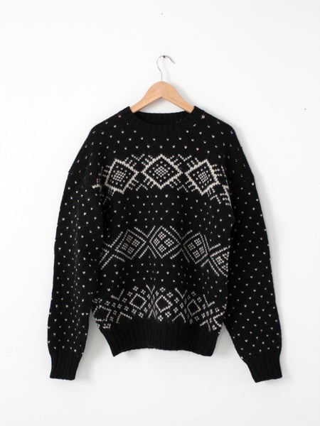 vintage men's ski sweater by Evan Picone