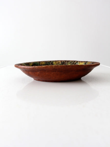 cast wood bowl