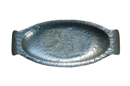 Vintage Hammered Aluminum Tray