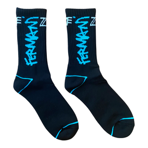 Blue Graffiti Fermani Socks