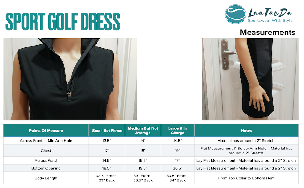 Sport Golf and tennis dress with built in bodysuit and shorts with pockets - easy bathroom access