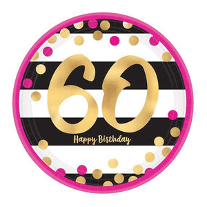 60 Ans - Confettis Rose & Or