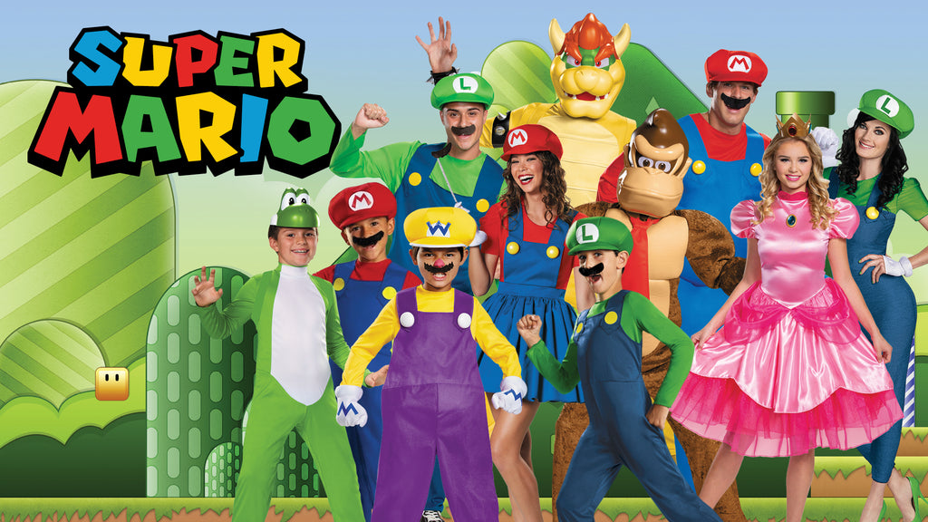 Super Mario Brother Halloween Costume themes for families