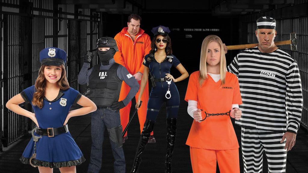 Police and Inmates Halloween Costume themes for families