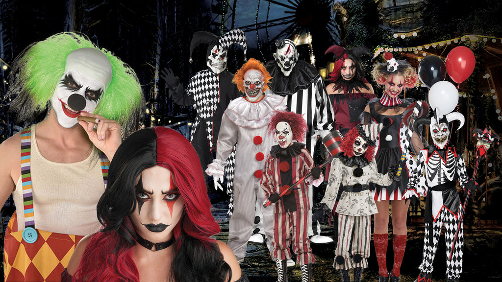 Clowns and Jesters Halloween Costume themes for families