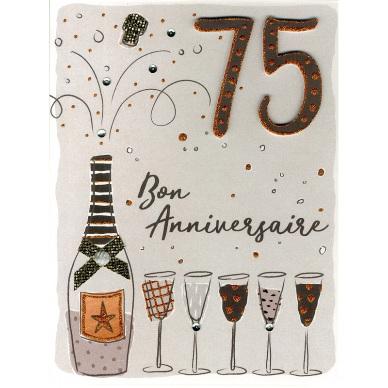 Carte Gigantesque - 75 Ans Champagne