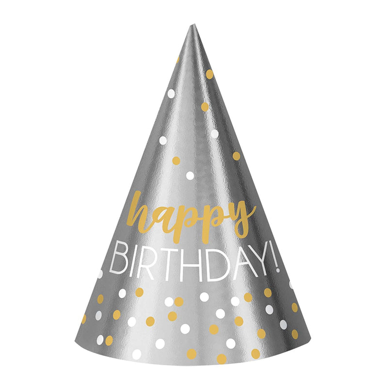 Chapeau Cone Happy Birthday 12/pqt