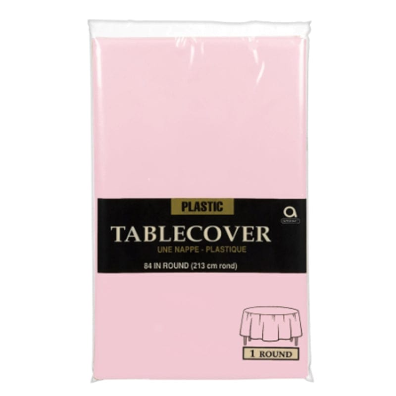 Nappe En Plastique Ronde - Rose Blush