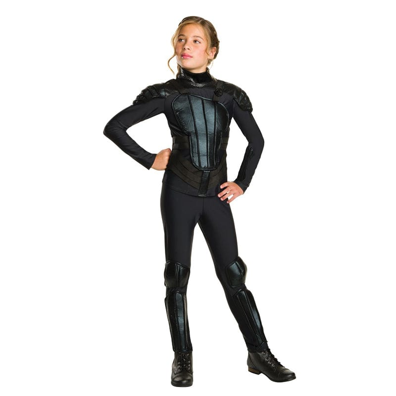 Adolescente portant le costume de Katniss Everdeen de la série de films Hunger Games