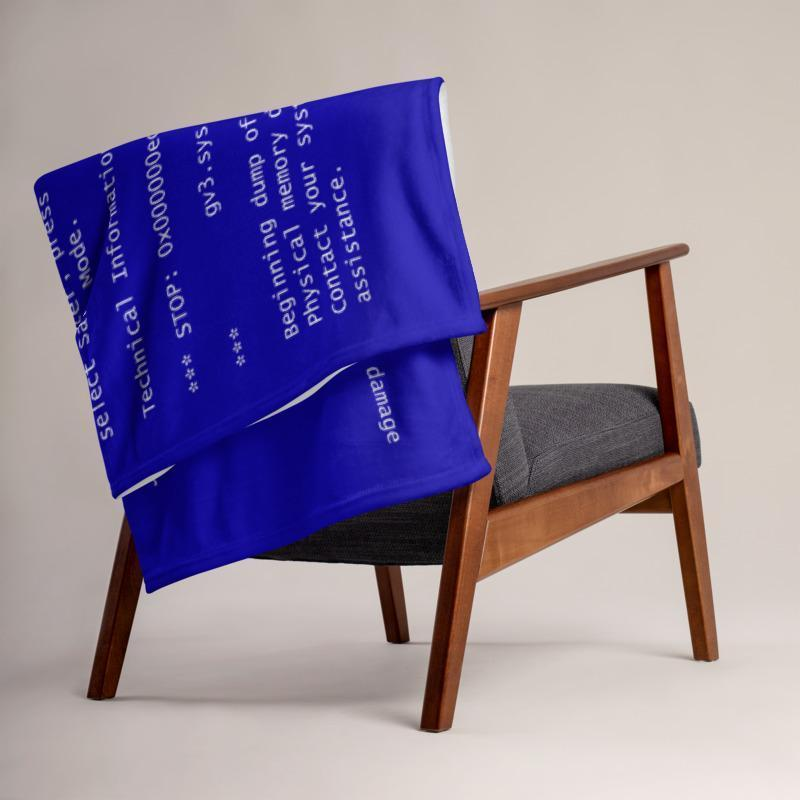 Blue Screen of Death Throw Blanket