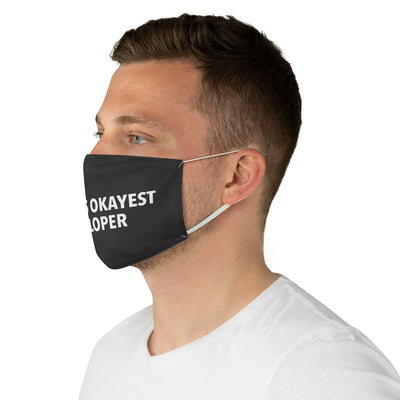 World's Okayest Developer Fabric Face Mask