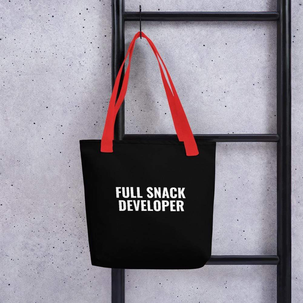 Full Snack Developer Tote Bag, Black
