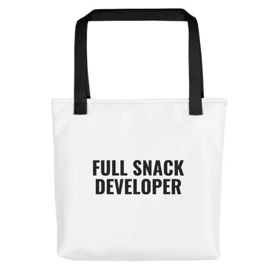 Full Snack Developer Tote Bag, White