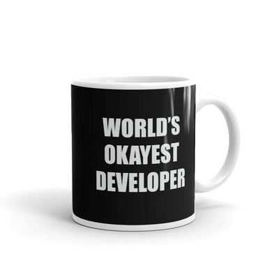 World's Okayest Developer Mug, Black