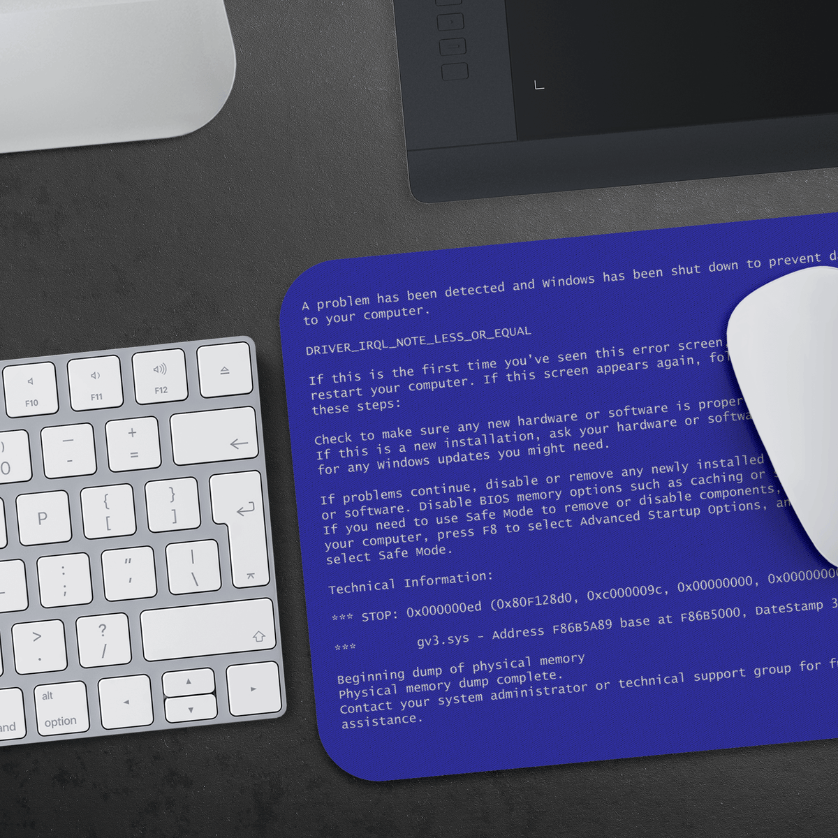 Windows XP/7 Blue Screen of Death Mousepad