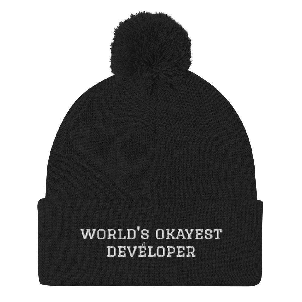 World's Okayest Developer Dev Pom-Pom Beanie