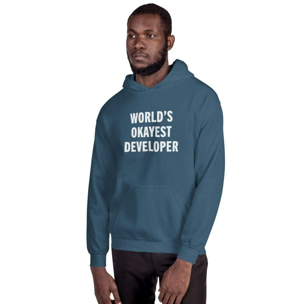 World's Okayest Developer Unisex Hoodie
