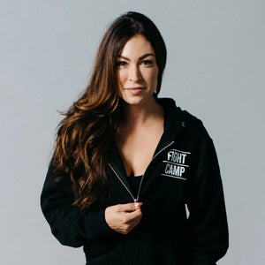 FightCamp Unisex Zip-Up Hoodie - Black