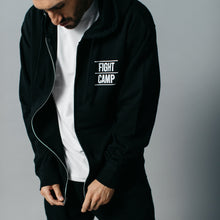 Load image into Gallery viewer, FightCamp Unisex Zip-Up Hoodie - Black